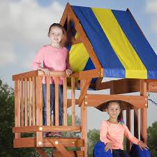 Cedar Playsets Amazon Com Backyard Discovery Peninsula All Cedar Wood Playset