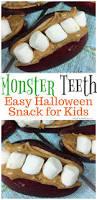 monster teeth halloween treat idea for kids parties