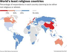 Religions Of The World Map by Map These Are The World U0027s Least Religious Countries The