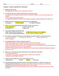 criminalistics chapter 1 study guide