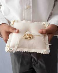 Knitted Cushions With Buttons Ring Bearer Pillow Ideas You Can Make On Your Own Martha Stewart