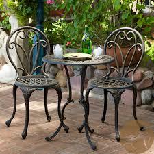 Cast Iron Patio Set Table Chairs Garden Furniture - thomas cast aluminum dark gold 3 piece bistro set by christopher