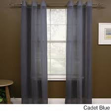 108 Inch Long Blackout Curtains by Miller Curtains Preston 108 Inch Sheer Grommet Panel 48