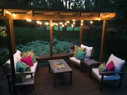 Colorful Outdoor Living Space Makeover - Colorful patio furniture