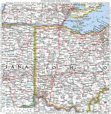 Ohio Kentucky Map by Illinois Ohio Indiana Michigan Wisconsin Historic Roads Paths