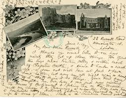 The Cambridge Room   Historic tidbits  facts  and notes of     Handwritten postcard from Thomas Wentworth Higginson to Etta Russell  June          from the Thomas Wentworth Higginson Papers
