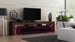 Living Room Furniture Tv Cabinet Amazon Com Tv Stand Milano 200 Walnut Line Modern Led Tv