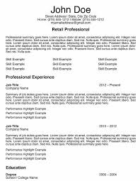 Retail Job Resumes by Sample Resume In Retail Sales