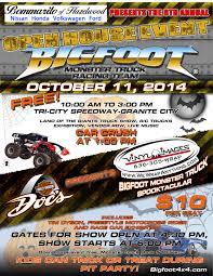 monster truck show schedule 2014 bigfoot monster truck event tickets u201con sale now u201d tri city speedway