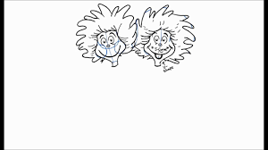 how to draw thing 1 and thing 2 from the cat in the hat youtube