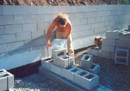 Building A Concrete Block House Dry Stack Block Surface Bonded Concrete Block Walls Used For Htms