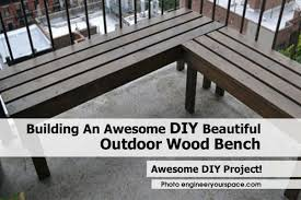 Build Wood Garden Bench by Outdoor Wood Bench Engineeryourspace Com Jpg