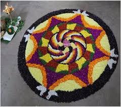 Indian Flower Design 45 Best Pookalam Indian Floral Design For Onam Festival Family