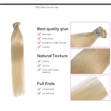 Human Hair Glue In Extensions by 6 30 Inch 60 White Blonde Stick I Tip Straight Real Human Hair