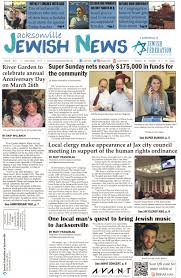 Jacksonville Jewish News   March      Jewish Federation of Jacksonville