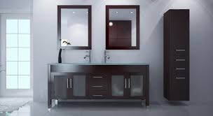 bathroom black ikea double vanity with 4 drawers and rectangle