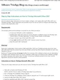 step by step instructions on how to thinapp microsoft office 2007