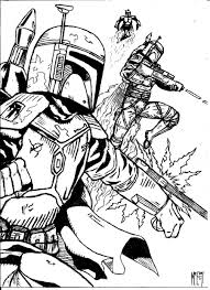 lego star wars boba fett coloring pages star wars color page