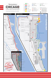 North Shore Chicago Map by Course