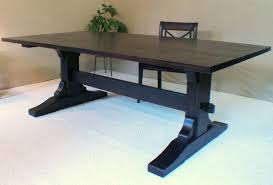 Custom Made Dining Room Furniture Wood Dining Table Trestle Table Black Walnut Made In Vermont 87