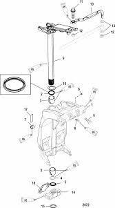 mercury marine 90 hp 4 stroke swivel bracket u0026 steering arm parts