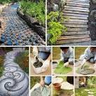 25 Lovely DIY Garden Pathway Ideas | WooHome