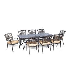 Cast Iron Patio Set Table Chairs Garden Furniture - wicker patio furniture brown patio dining sets patio dining