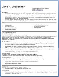 Best Tech Resume by Medical Technologist Resume Berathen Com