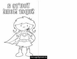 color this card happy mothers day cut out super mom printable
