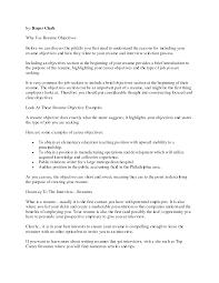 Resume Objective Statement Example Resume Objective Statement Examples For Retail