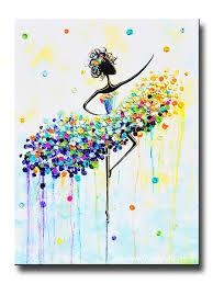 giclee print art abstract dancer painting aqua blue canvas prints