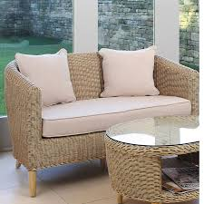 Modern Conservatory Modern Style Cane Conservatory Sofa Compact Rattan Sofa Candle