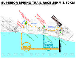 Time Change Map Maps U0026 Data Superior Spring Trail Race
