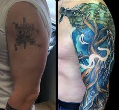 Tattoo Designs Half Sleeve Ideas 50 Tattoo Cover Up Sleeve Design Ideas For Men Manly Ink