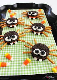 Cute Halloween Treat Ideas by Oreo Cookie Spiders Recipe Halloween Food Crafts Halloween