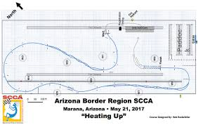Phoenix International Raceway Map by Arizona Border Region Scca