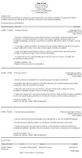 Financial Planner Resume Sample by Financial Planner Resume With Example Corporate Financial Planner