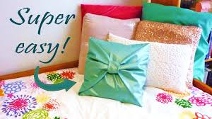 Large Sofa Pillows Back Cushions by Diy Room Decor No Sew Bow Pillow Cover Youtube
