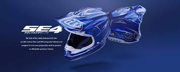 troy lee designs motocross helmet troy lee designs se4 polyacrylite off road racing motorcycle mx
