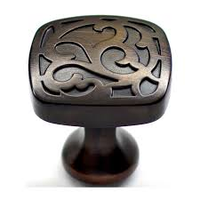 shop allen roth aged bronze round cabinet knob at lowes com