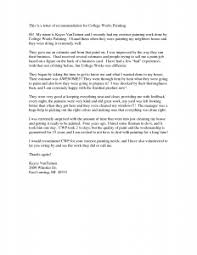 Tips On Writing A Recommendation Letter For College   Cover Letter