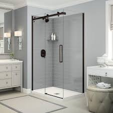 azure 4234 corner shower advanta by maax base and glass are a
