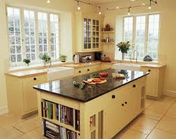 Marble Top Kitchen Islands by Small Cherry Finished Galley Kitchen With Marble Top Kitchen