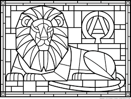 free christmas stained glass with angel coloring page