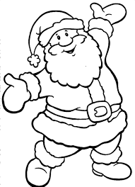 santa claus and elves coloring pages