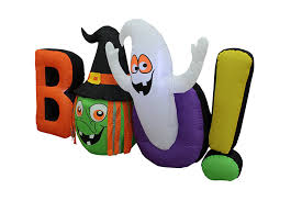 amazon com 8 foot long halloween inflatable witch ghost boo