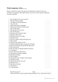 121 free esl find someone who worksheets