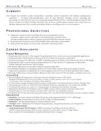 Sample Civilian And Federal Resumes Resume Valley Information