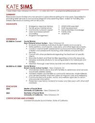 Example Of Resume No Experience by Sample Social Worker Resume No Experience Gallery Creawizard Com