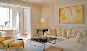 Yellow Interior by Yellow Living Room Interior Wall Paint Color With Grey Sofa And